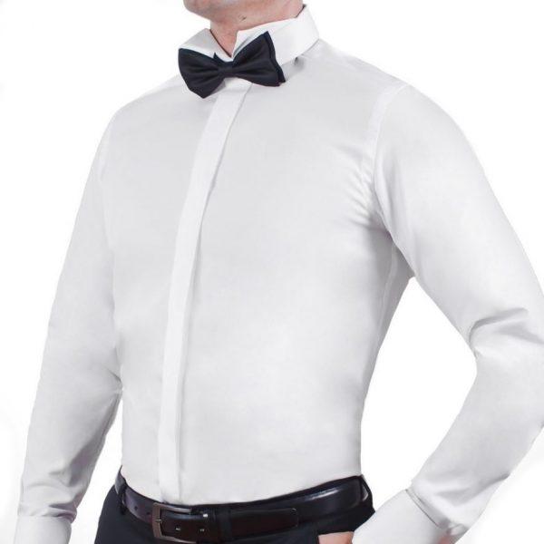 camasa alba pentru papion