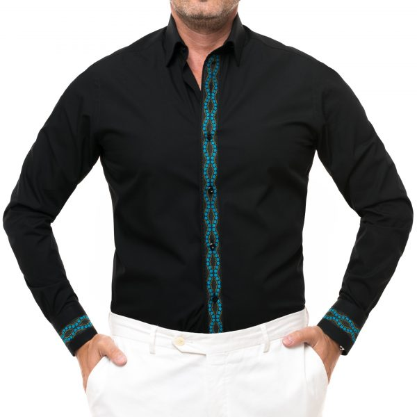 camasa traditionala neagra