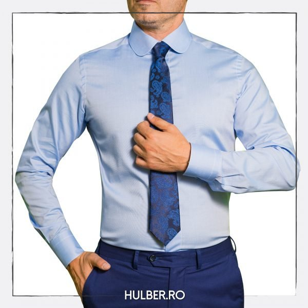 camasa business bleu