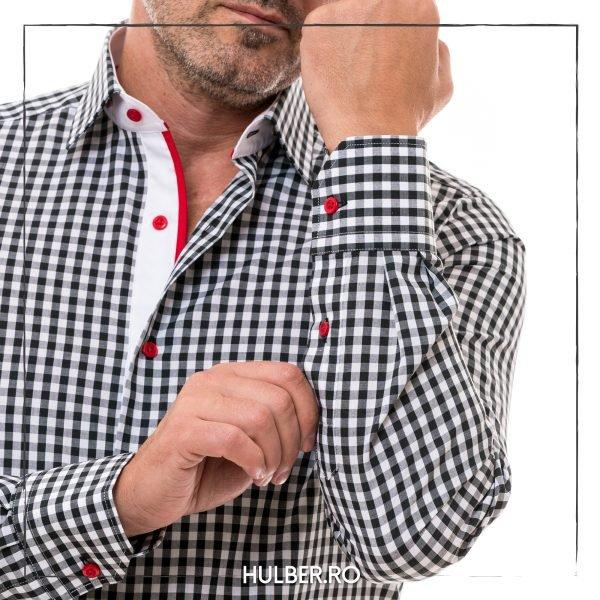 camasa-barbati-carouri-alb-negre-fenta-1