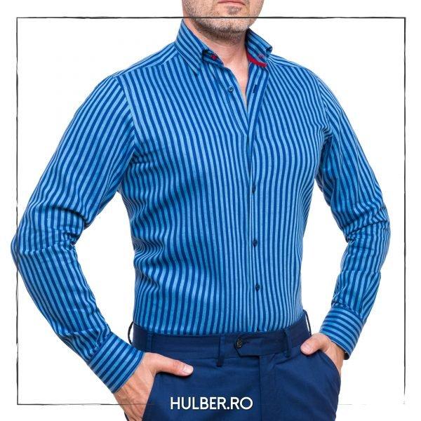 camasa-barbati-in-dungi-bleu-bleumarin