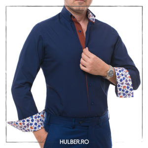 camasa bleumarin cu detalii