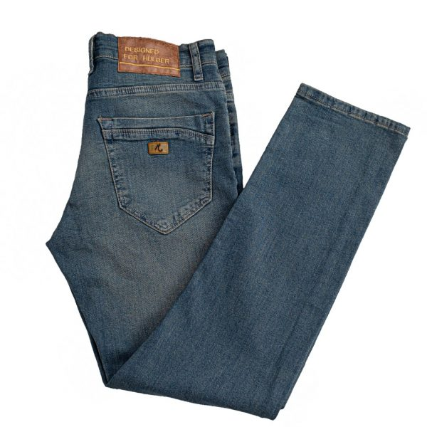 jeansi barbati albastru prespalat