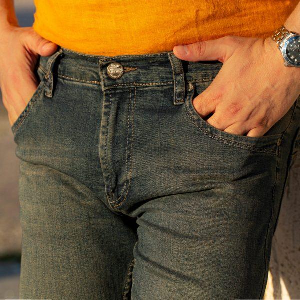 jeansi barbati albastri