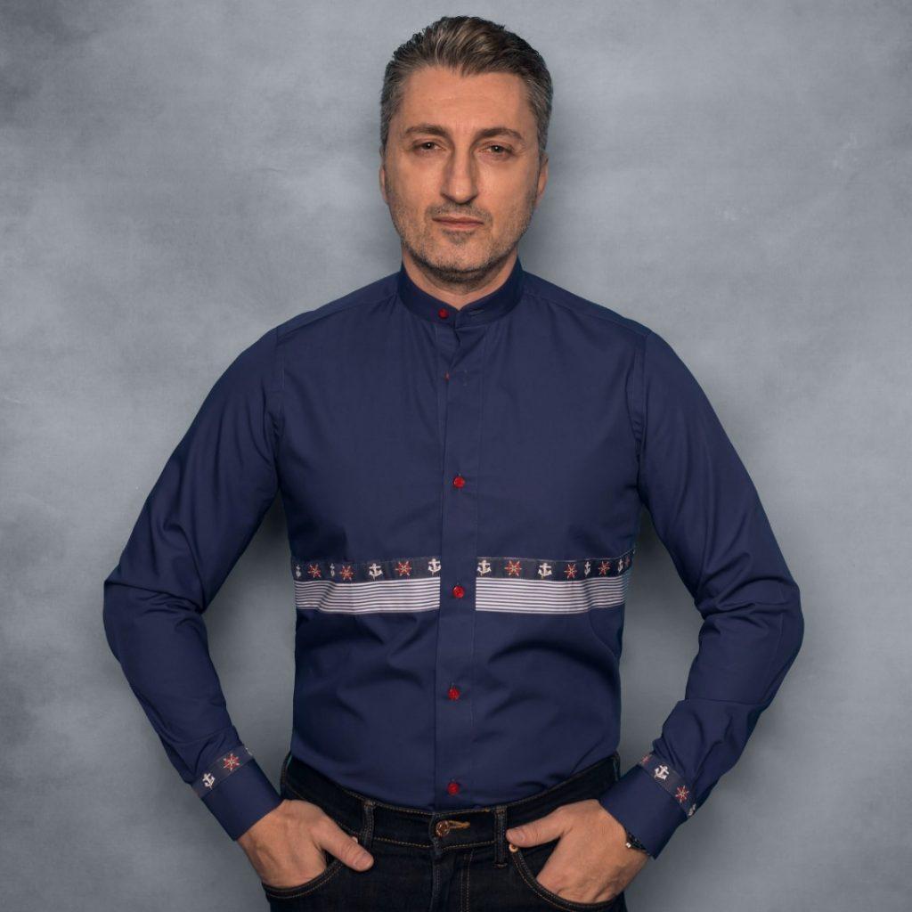 camasa bleumarin design