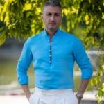 camasa in bleu