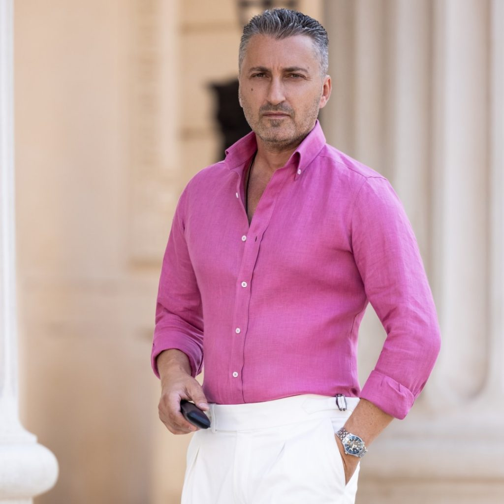 camasa roz din in