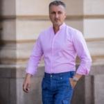 camasa roz guler tunica pantalon